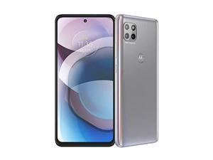 Motorola One 5G Ace | 2021 | Unlocked | Made for US by Motorola | 6/128GB | 48MP Camera | Hazy Silver (PALK0006US)