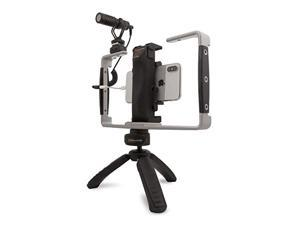 Padcaster Verse Mobile Media Kit, Full Video Production Kit for Smartphones with Self-Powered Mini Microphone, Aluminum Frame and Combination Mini Tripod with Power Bank (PCVERSE)