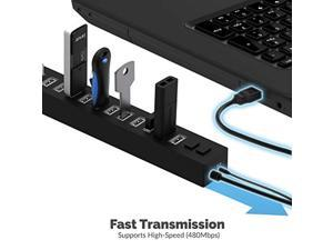 Sabrent 13 Port High Speed USB 2.0 Hub with Power Adapter and 2 Control Switches (HB-U14P) (HB-U14P)