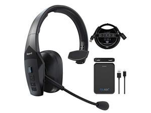 BlueParrott B550-XT Noise Canceling Bluetooth Headset for iOS and Android Bundle with Blucoil 5000mAh Portable Power Bank, 3-FT USB 2.0 Type-A Extension Cable, Replacement Ear Pads and Windscr (A2153)