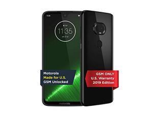 Moto G7 Plus | Unlocked | Made for US by Motorola | 4/64GB | 16MP Camera | 2019 | Black (PAFV0001US)
