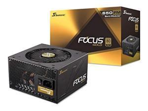 Seasonic FOCUS 650 Gold SSR-650FM 650W 80+ Gold ATX12V  and  EPS12V Semi-Modular 7 Year Warranty Compact 140 mm Size Power Supply