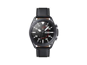 Samsung Galaxy Watch 3 (45mm, GPS, Bluetooth) Smart Watch with Advanced Health Monitoring, Fitness Tracking , and Long lasting Battery - Mystic Black (US Version) (SM-R840NZKAXAR)