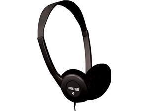 Maxell 190319 Stereo Headphone, Black (Packaging May Vary)