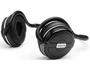Kinivo BTH240 Bluetooth Headphones (Black, On-Ear, Wireless Music, Hands-Free Calling, Built-in Mic, Foldable, Memory Form Earpads, Travel Bag)