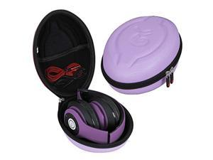 Hermitshell Hard EVA Travel Case for iJoy Matte Rechargeable Wireless Bluetooth Foldable Over Ear Headphones (Violet)