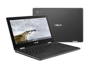 ASUS Chromebook Flip C214 2-In-1 Laptop- 11.6? Ruggedized and Spill Resistant 360 Degree Touchscreen, Intel Celeron N4000, 4GB LPDDR4 RAM, 32GB Storage, HD 5M Pixel Camera, Chrome OS- C214MA-YS02T