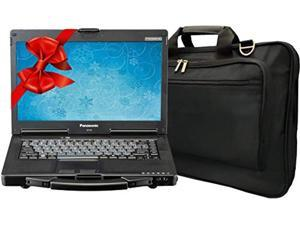 Panasonic Toughbook CF-53 Laptop PC, Intel i5-2520M 2.5GHz, 16GB RAM, 1TB SSD, Windows 10, Touchscreen, Laptop Bag (Renewed)