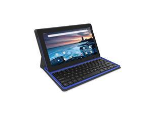 "RCA 11.6"" 2GB RAM 128GB Storage 2-in-1 Tablet with Keyboard Touchscreen WiFi Bluetooth and DJ Headphones (Blue Marble)"