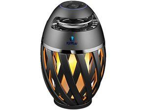Flame Light Speaker, Viiwuu Led Flame Speakers Torch Atmosphere Bluetooth Speakers Outdoor Portable Stereo Speaker with HD Audio and Enhanced Bass Night Light Table Lamp BT 4.2 for iPhone Android