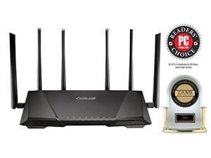 """""""ASUS AC3200 Tri-Band Gigabit WiFi Router, AiProtection Lifetime Security by Trend Micro, Adaptive QoS, Parental Control (RT-AC3200)"""""""