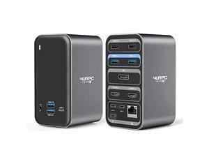 USB C Dual Monitor Docking Station for MacBook Pro Air, 4K Triple Display 13 Ports Laptop Docking Station for MacBook Pro Air Thunderbolt 3 USB C Dock(2 4KHDMI DP 100W PD3.0 RJ45 6USB USB-C Audio)