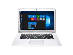 HSW 10.1 inch Windows 10 Ultra Thin Laptop PC - 2GB RAM 32GB Storage, Intel Quad Core 1.44Ghz USB 3.0, WiFi, HDMI, BT, Supports 128GB tf-Card Notebook Computer (White)