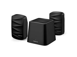 Meshforce M3 Mesh WiFi System, Covers Up to 4,500 Sq.ft, Mesh WiFi Router Replacement , Guest Network, Flexible Wall Plug Extender(Midnight Black)