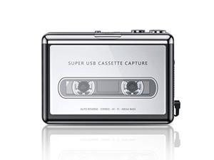 Cassette Player, Portable Walkman Cassette Player from Tapes to MP3 Converter Via USB, Audio Music Player Capture Cassette Recorder with Headphone for Laptop PC and MacBook