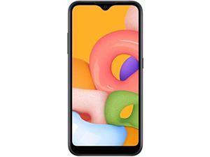 Samsung Galaxy A01 (A015M) 32GB, Dual SIM, GSM Unlocked, 5.7? Display Smartphone - International Version - Black