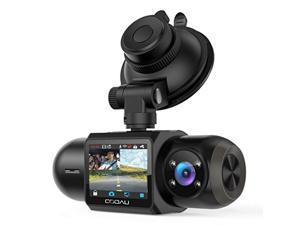 1080P FHD Built-in GPS Wi-Fi Dash Cam, Front and Inside Car Camera Recorder with Infrared Night Vision, Sony Sensor, Supercapacitor, 4 IR LEDs?G-Sensor, Parking Mode, Loop Recording (D30)
