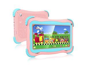 Kids Tablet 7 Android Kids Tablet Toddler Tablet Kids Edition Tablet with WiFi Dual Camera Childrens Tablet 1GB + 32GB Parental Control, Google Play Store (Pink)