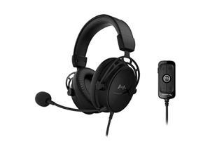 HyperX Cloud Alpha S - PC Gaming Headset, 7.1 Surround Sound, Adjustable Bass, Dual Chamber Drivers, Chat Mixer, Breathable Leatherette, Memory Foam, and Noise Cancelling Microphone - Blackout
