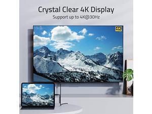 USB C to HDMI Cable 4K, USB-C Thunderbolt 3 Compatible to HDMI Cable Compatible with iMac 2021 MacBook Pro 2020, MacBook Air, iPad Air 4, iPad Pro 2021, Samsung Galaxy S10,S9 and More - 6 feet