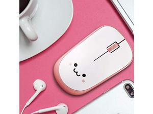 ELECOM 2.4G Wireless Smiley-Face Mouse for Right/Left Handed Use, IR LED , Less Noise, 1200 DPI, 2.5 Years Long Battery Life , Pink Silent Model (M-IR07DRSPN)