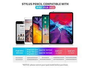 Stylus Pen for ipad,with Palm Rejection,Tilt,Magnetic Function, Active Pencil Compatible with (2018-2021) Apple iPad Pro (11/12.9 Inch) iPad 6th/7th /8th Gen,iPad Mini 5th Gen,iPad Air 3rd/4rd Gen