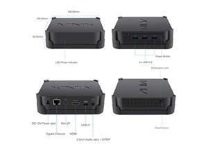 MINIX NEO J50C-8SE, 8GB/240GB Intel Pentium Silver Mini PC with Windows 10 Pro (64-bit) [Dual-Band Wi-Fi/Gigabit Ethernet/4K @ 60Hz/Triple Display/USB-C/Auto Power On/Vesa Mount]