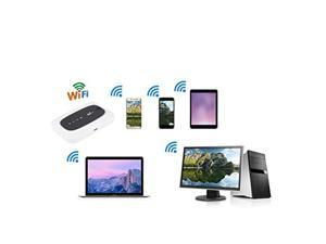 4G LTE Mobile WiFi Modem Mini Wireless Mobile Router Portable Pocket WiFi Router Hotspot for Indoor/Outdoor, Travel Partner Modem WiFi Gaming Router(White)