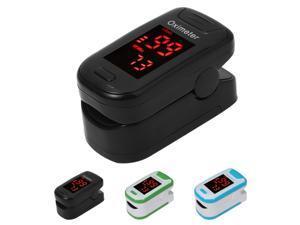 Finger Blood Pulse Oxygen Meter Oxygen Saturation Monitor Blood Oximeter Blood Pressure Meter LED (Random Color)