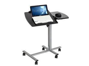 Five-Wheel Home Use Multifunctional Lifting Removable Computer Desk Black & Silver