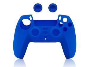 Silicone Case Cover For PS5 DualSense Controller  (Blue)