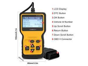 V310 OBD2 Scanner OBD Code Reader & Scan Tools Car Engine Diagnostic Scanner Tool For All OBDII Protocol Cars