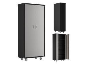 182*82*41cm  Metal Storage Cabinet Steel Utility Cabinets for Garage, Office, Classroom, Kitchen Pantry