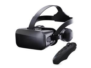 J20 3D VR Glasses Virtual Reality Glasses for 4.7- 6.7 Smart Phone iPhone Android Games Stereo with Headset Controllers