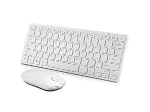 Wireless Keyboard and Mouse, Full-Size Wireless Mouse and Keyboard Combo, 2.4GHz Silent USB Wireless Keyboard Mouse Combo for PC Desktops Computer, Laptops, Windows