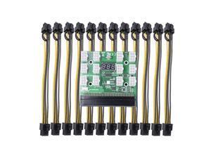 Power Module Branch Board For HP 750W 1200W Server PSU Power Conversion 12pcs 6-pin To 8-pin BTC Power Cord