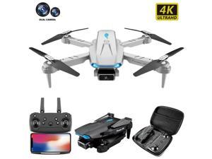 Greatlizard S89 Mini Drone  Foldable WiFi FPV Drone With 4K HD Camera For Adults, RC Quadcopter With 3D Flip, Headless Mode, Altitude Hold, One Key Return, Bag And 3 Batteries
