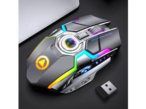 A5 Wireless Mouse, Rechargeable Game, RGB Light-emitting Mute, Silent Computer Accessories, Lithium Battery 500 MAh