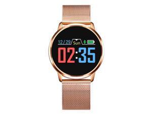 Q8 Smart Watch Waterproof Heart Rate Blood Pressure Monitor Periodic Reminder Color Screen Metal Band Bracelet Men Women