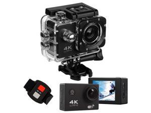 Bobora 2 inch 4K WiFi Action Camera 30M Waterproof Underwater Sports Camera Ultra HD 16MP Video Record Camcorder 170 Degree Wide Angle Cycling Camera with Remote