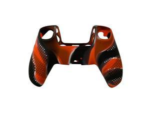 For PS5 Gamepad Silicone Protective Cover, Dustproof Protective Cover With Non-slip Particles, Suitable For S-ony PlayStation PS5 Controller - Camouflage red