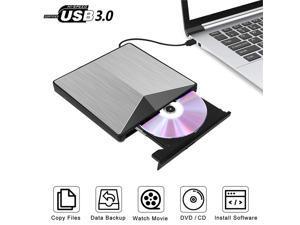 External Aluminum Optical DVD Drive USB 3.0 CD DVD +/-RW Burner Rewriter Player For Laptop Desktop PC Support Windows MacOS