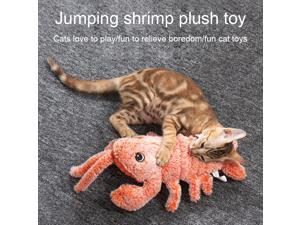 USB Charging Electric Charging Simulation  Dancing Moving Floppy Lobster Cats Toy Tooth Cleaner Plush Cat Toy