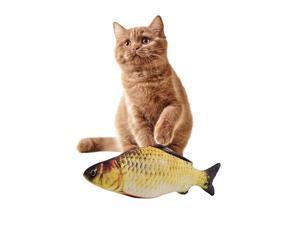 30CM Cat Toy Simulation Fish Toy Cat Mint USB Charging