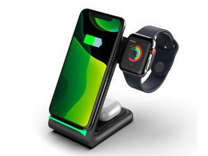 BONOLA 3-in-1 Fast Wireless Chargers Charging Station for Mobile Phone/iWatch/Headphone BONOLA