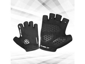 1Pair MTB Riding Gloves Bicycling Mitten Mountain Bike Skid-proof Gloves Outdoor Riding Gloves M (Black)