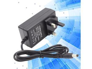 12V 2A AC 100-240V Universal Power Supply Charger 5.5*2.1DC Port for External Hard Drive Wlan Router LCD Monitor TV Box Recorder  Speaker with UK Plug