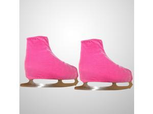 A Pair of Ice Skating Figure Skating Shoes Cover Solid Rollar Skate Shoes Accessories Size S (Pink)