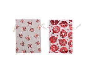 1 Set Creative Christmas Gift Drawstring Sack Bag Beautiful Gift Storage Container Packaging Pouches for Presents (With Hemp Rope, Clip, Sticker, Storage Pouch)