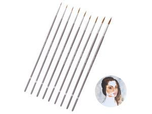 9pcs Wolf Hair Fine Brushes Professional Drawing Brush Line Drawing Pen Watercolor Painting Brush